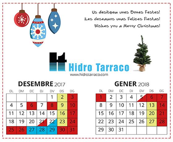 ¡Hidro Tarraco les desea Felices Fiestas!