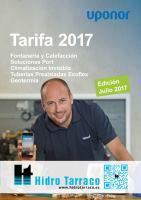 Uponor tarifa 2017 edici n julio hidro tarraco for Tarifa grohe 2017