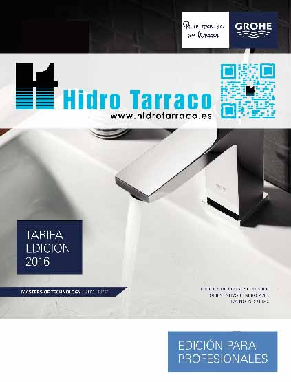 Grohe tarifa completa 2017 hidro tarraco for Tarifa grohe