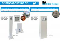 Nuevos dispensadores de gel (manual con pedal y automático)